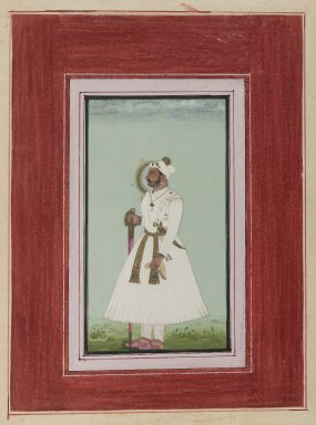Indian. Portrait of Rao Vir Singh, ca. 1780-1790. Opaque watercolor and gold on paper, sheet: 12 x 9 in.  (30.5 x 22.9 cm). Brooklyn Museum, Anonymous gift, 84.201.10