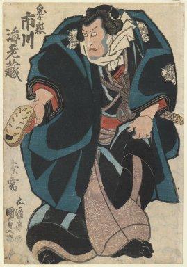 Utagawa Toyokuni III  (Kunisada) (Japanese, 1786-1864). Actor in the Ichikawa Family, ca. 1815 - 1820. Woodblock print, 14 3/8 x 10 in. (36.5 x 25.4 cm). Brooklyn Museum, Gift of Mr. and Mrs. Peter P. Pessutti, 84.202.7