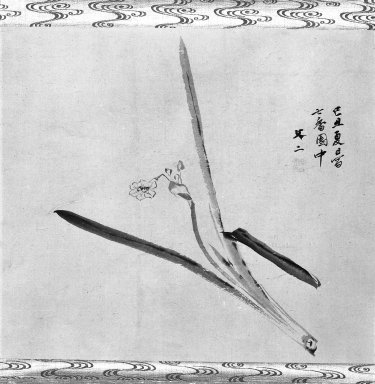 Tani Bunji (Japanese, died 1850). Narcissus, 19th century. Hangin scroll painting, ink on paper, 15 1/8 x 17 1/8 in. (38.4 x 43.5 cm). Brooklyn Museum, Gift of Dr. Kenneth Rosenbaum, 84.203.2