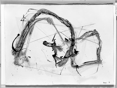 Cleve Gray (American, 1918-2004). Zen #4, 1981. Ink and wash on paper, 22 1/4 x 30 in. (56.5 x 76.2 cm). Brooklyn Museum, Gift of Robert T. Buck, 84.221.1. © Estate of Cleve Gray