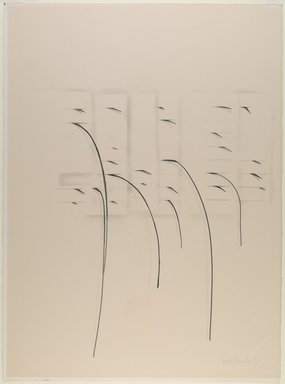 Agustin Fernandez (Cuban, 1928-2006). Untitled, 1973. Graphite on paper, 30 1/8 x 22 1/2 in. (76.5 x 57.2 cm). Brooklyn Museum, Gift of Joseph Novak, 84.234.3. © Estate of Agustin Fernandez