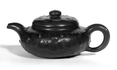 "Teapot, late 19th-early 20th century. ""Purple clay"" (zisha) earthenware, Height with lid: 3 11/16 in. (9.3 cm). Brooklyn Museum, Gift of Robert S. Anderson, 84.244.17a-b. Creative Commons-BY"