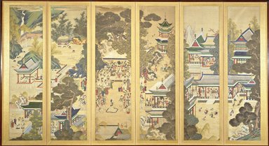The Pleasant Life of Guo Fenyang, 19th century. Ink and color on silk, 79 1/2 x 142 1/2 in.  (201.9 x 362.0 cm). Brooklyn Museum, Gift of John Gruber, 84.251