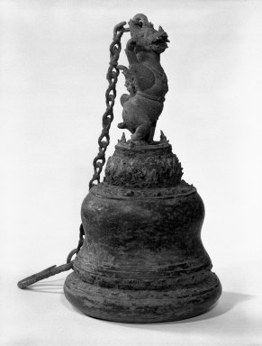 Ritual Bell, 13th-15th century. Bronze, 11 x 6 in. (27.9 x 15.2 cm). Brooklyn Museum, Gift of Dr. Jack Hentel, 84.254.1. Creative Commons-BY