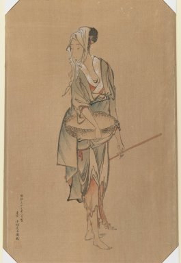 Girl with Basket, ca. 1900. Woodblock print, 17 3/8 x 10 3/4 in. (44.1 x 27.3 cm). Brooklyn Museum, Gift of Dr. and Mrs. John P. Lyden, 84.261.1