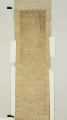 Elegant Gathering in the Western Garden, before 1834. Scorched lines and ink on paper, 45 7/8 x 11 1/4 in. (116.5 x 28.5 cm). Brooklyn Museum, Gift of Dr. and Mrs. John P. Lyden, 84.261.5