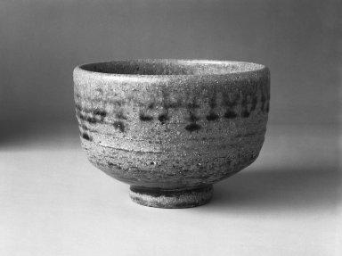 Ichino Katsusuke (Japanese). Tamba Ware Tea Bowl, ca. 1975. Stoneware, 3 1/2 x 5 1/4 in. (8.9 x 13.3 cm). Brooklyn Museum, Gift of John M. Lyden, 84.262.19. Creative Commons-BY