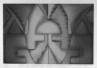 Gustavo Rojas. Commo Un Recuerdo Que Siempre Ha Vivido En Mi, 1983. Intaglio on paper, sheet: 15 1/16 x 20 1/8 in. (38.3 x 51.1 cm). Brooklyn Museum, Gift of the Printmaking Workshop in honor of Una E. Johnson, 84.307.12. © Gustavo Rojas