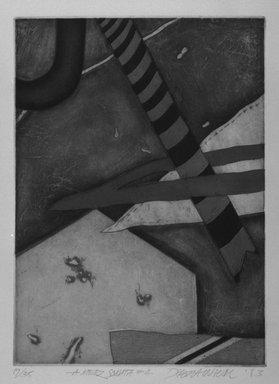 Debra Weier. A Merz Sonata: 4, 1983. Intaglio on paper, sheet: 20 1/8 x 15 1/16 in. (51.1 x 38.3 cm). Brooklyn Museum, Gift of the Printmaking Workshop in honor of Una E. Johnson, 84.307.16. © Debra Weier