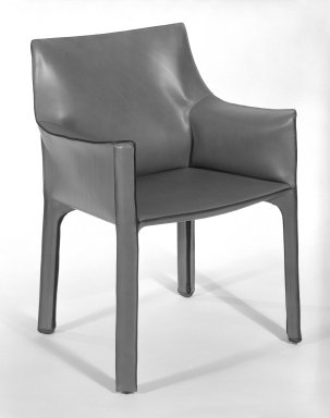Cassina. Cab Armchair, 1977 - 1979. Steel frame with bordeaux Russian leather upholstery, 31 3/4 x 22 1/2 x 20 in. (80.6 x 57.2 x 50.8 cm). Brooklyn Museum, Gift of Atelier International, Ltd., 84.31. Creative Commons-BY