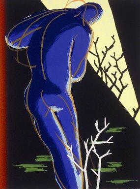 Jedd Garet. Night Boy, 1983. Lithograph with silkscreen Brooklyn Museum, Designated Purchase Fund, 84.50. © Jedd Garet