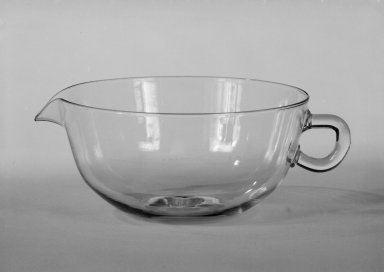Wilhelm Wagenfeld (1900-1990). Creamer, 1930 -1934. Clear heat-resistant glass, 1 3/4 x 5 x 3 7/8 in. (4.4 x 12.7 x 9.8 cm). Brooklyn Museum, Gift of Barry Friedman, 84.64.2. Creative Commons-BY