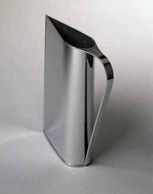 """Peter Muller-Munk (American, born Germany, 1904-1967). """"Normandie"""" Pitcher, ca. 1935. Chrome-plated brass, 12 x 3 x 9 1/2 in. (30.5 x 7.6 x 24.3 cm). Brooklyn Museum, H. Randolph Lever Fund, 84.67. Creative Commons-BY"""