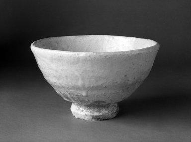 Hirose Tanga (Japanese, born 1939). Hagi Ware Tea Bowl, ca. 1978. Stoneware, 3 1/2 x 6 in. (8.9 x 15.2 cm). Brooklyn Museum, Gift of John M. Lyden, 84.70.5. Creative Commons-BY