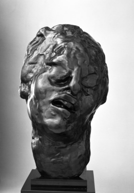Auguste Rodin (French, 1840-1917). Head of the Tragic Muse (Tête de la Muse tragique), 1895; cast 1979. Bronze, 11 5/8 x 7 1/4 x 9 7/8 in.  (29.5 x 18.4 x 25.1 cm). Brooklyn Museum, Gift of the Iris and B. Gerald Cantor Foundation, 84.75.12. Creative Commons-BY