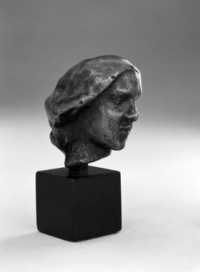 Auguste Rodin (French, 1840-1917). Head of a Woman with a Chignon (Tête de Femme au chignon), ca. 1890-1900; cast 1971. Bronze, 2 1/4 x 1 1/2 x 2 1/8 in.  (5.7 x 3.8 x 5.4 cm). Brooklyn Museum, Gift of the Iris and B. Gerald Cantor Foundation, 84.75.13. Creative Commons-BY
