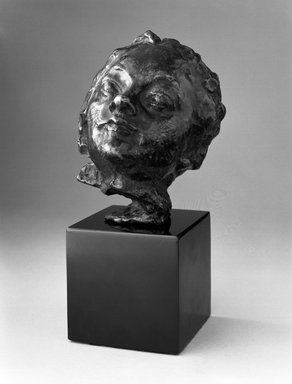 Auguste Rodin (French, 1840-1917). Small Head with Turned-Up Nose (Petite Tête au nez retroussé), before 1900; cast date unknown. Bronze, 5 x 4 1/8 x 2 3/4 in.  (12.7 x 10.5 x 7.0 cm). Brooklyn Museum, Gift of the Iris and B. Gerald Cantor Foundation, 84.75.14. Creative Commons-BY