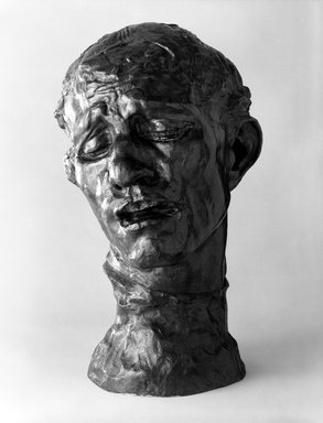Auguste Rodin (French, 1840-1917). Pierre de Wiessant, Colossal Head (Pierre de Wissant, tête colossale), ca. 1910; cast 1973. Bronze, 32 3/8 x 19 1/2 x 21 1/4 in. (82.2 x 49.5 x 54 cm). Brooklyn Museum, Gift of the Iris and B. Gerald Cantor Foundation, 84.75.20. Creative Commons-BY