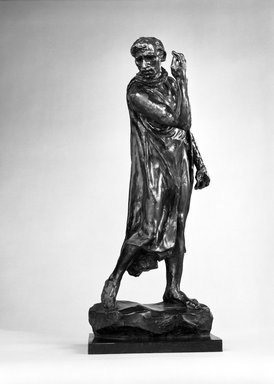 Auguste Rodin (French, 1840-1917). Pierre de Wiessant, Second Maquette (Pierre de Wissant, deuxième maquette), 1885; cast 1970. Bronze, 27 1/4 x 11 3/4 x 11 in.  (69.2 x 29.8 x 27.9 cm). Brooklyn Museum, Gift of the Iris and B. Gerald Cantor Foundation, 84.75.21. Creative Commons-BY