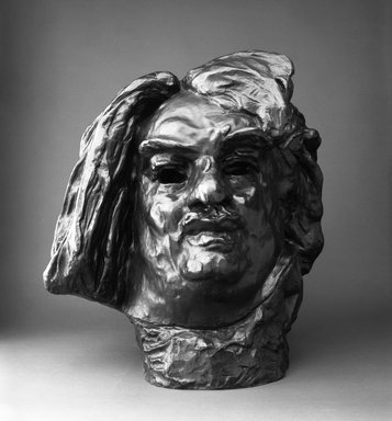 Auguste Rodin (French, 1840-1917). Balzac, Monumental Head (Balzac, tête monumentale), 1898; cast 1979. Bronze, 20 x 17 1/2 x 16 in.  (50.8 x 44.5 x 40.6 cm). Brooklyn Museum, Gift of the Iris and B. Gerald Cantor Foundation, 84.75.23. Creative Commons-BY