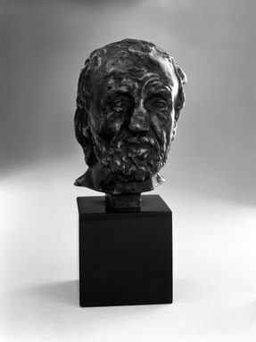 Auguste Rodin (French, 1840-1917). Man with the Broken Nose, Reduction (L'homme au nez cassé, réduction), ca. 1863, reduction ca. 1900; cast 1970. Bronze, 3 5/8 x 2 1/2 x 2 1/2 in.  (9.2 x 6.4 x 6.4 cm). Brooklyn Museum, Gift of the Iris and B. Gerald Cantor Foundation, 84.75.8. Creative Commons-BY