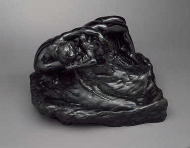Auguste Rodin (French, 1840-1917). The Fallen Angel, or Illusions Received by the Earth (La Chute d'un ange, ou Les Illusions reçues par la Terre), by 1900; cast before 1952. Bronze, 20 1/2 x 32 3/4 x 22 1/4 in.  (52.1 x 83.2 x 56.5 cm). Brooklyn Museum, Gift of Iris and B. Gerald Cantor, 84.77.5. Creative Commons-BY