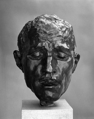 Auguste Rodin (French, 1840-1917). Pierre de Wiessant, Type B Head (Pierre de Wissant, tête Type B), 1885 or 1886; cast before 1952. Bronze, 11 1/4 x 8 1/4 x 9 1/4 in.  (28.6 x 21.0 x 23.5 cm). Brooklyn Museum, Gift of Iris and B. Gerald Cantor, 84.77.9. Creative Commons-BY