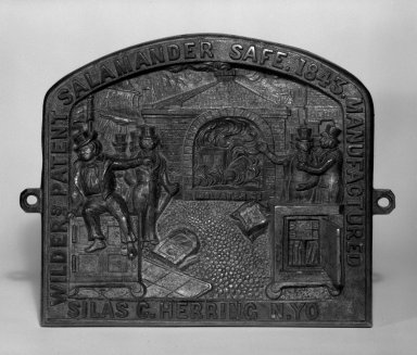 Possibly Silas C. Hering. Safe-Plate, ca. 1843. Cast bronze, Other: 7 1/2 x 9 1/2 x 1 1/8 in. (19.1 x 24.1 x 2.9 cm). Brooklyn Museum, H. Randolph Lever Fund