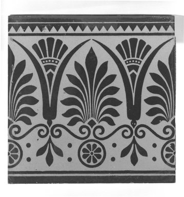 International Tile Company. Tile, ca. 1882. Earthenware, 1/2 x 6 x 6 in. (1.3 x 15.2 x 15.2 cm). Brooklyn Museum, Gift of Florence I. Barnes, 85.106.1. Creative Commons-BY