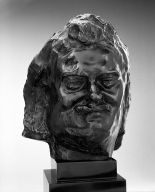 Auguste Rodin (French, 1840-1917). Balzac, Smiling Head, known as Head I (Balzac, tête souriante dite Tête I), ca. 1893; cast 1980. Bronze, 6 5/8 x 5 1/2 x 5 3/4 in.  (16.8 x 14.0 x 14.6 cm). Brooklyn Museum, Gift of the B. Gerald Cantor Collection, 85.119. Creative Commons-BY