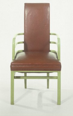 Kem Weber (American, born Germany, 1889-1963). Armchair, 1928. Wood, leather, 40 1/2 x 21 1/2 x 20 in. (102.9 x 54.6 x 50.8 cm). Brooklyn Museum, H. Randolph Lever Fund, 85.11. Creative Commons-BY