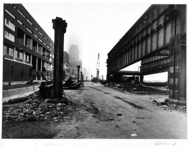 Robert Bianchi (American, born 1944). Untitled (Girders), 1984. Selenium-toned gelatin silver photograph, composition/sheet: 10 7/8 x 13 7/8 in. (27.6 x 35.3 cm). Brooklyn Museum, Gift of Mrs. William J. Isaacson, 85.127.5. © Robert Bianchi