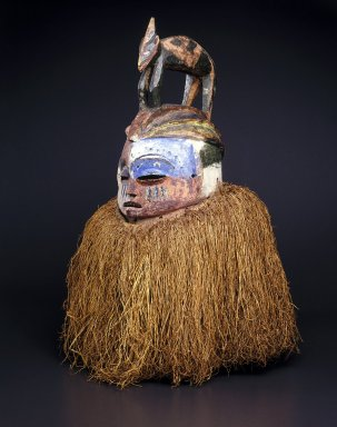 Suku. Hemba Mask, 20th century. Wood, raffia, pigment, 26 x 21 in. (66.0 x 53.3 cm). Brooklyn Museum, Gift of Dr. and Mrs. Abbott A. Lippman, 85.143. Creative Commons-BY