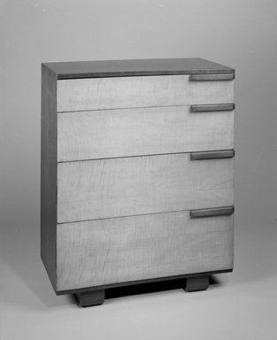 Gilbert Rohde (American, 1894-1944). Bureau, 1933-1934. English sycamore, sucupiro, plywood, 42 1/2 x 34 x 19 1/4 in. (108 x 86.4 x 48.9 cm). Brooklyn Museum, Designated Purchase Fund, 85.159.2. Creative Commons-BY
