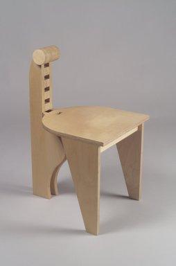 "Leo Blackman (born 1956). ""Blongo"" Side Chair, ca. 1984. Birch plywood, 27 1/8 x 15 x 17 1/2 in. (68.9 x 38.1 x 44.5 cm). Brooklyn Museum, H. Randolph Lever Fund, 85.161. Creative Commons-BY"
