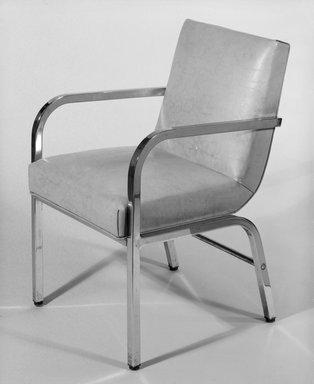 Donald Deskey (American, 1894-1989). Armchair, ca. 1933. Steel, vinyl, 32 x 21 3/8 x 22 1/2 in. (81.3 x 54.3 x 57.2 cm). Brooklyn Museum, H. Randolph Lever Fund, 85.164.1. Creative Commons-BY