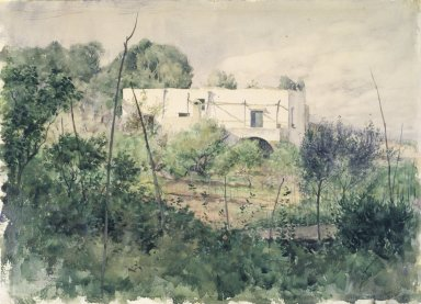 Louis Ritter (American, 1854-1892). Capri, 1889. Watercolor with graphite pencil on paper, 10 5/8 x 14 5/8 in. (27 x 37.1 cm). Brooklyn Museum, Purchased with funds given by Mr. and Mrs. Leonard L. Milberg, 85.177