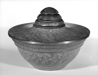 Carl Sorenson. Covered Bowl, ca. 1935. Patinated copper, 6 x 3 1/2 in. (15.2 x 8.9 cm). Brooklyn Museum, Designated Purchase Fund, 85.213.7a-b. Creative Commons-BY
