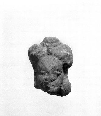 Kaushambi (Uttar Pradesh). Head of a Female. Red molded terracotta, 2 x 3 11/16 in. (5.1 x 9.3 cm). Brooklyn Museum, Gift of Norvin Hein, 85.216.7. Creative Commons-BY