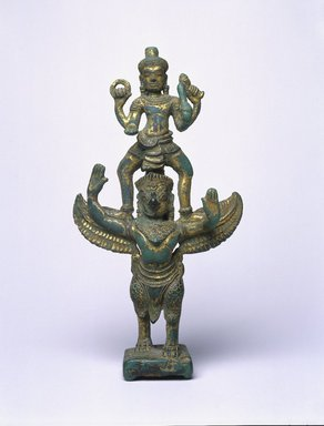 Garudasana Vishnu, late 12th century. Gilt Bronze, 7 13/16 x 3 9/16 x 1 3/4 in. (19.9 x 9.1 x 4.5 cm). Brooklyn Museum, Gift of Mr. and Mrs. Robert L. Poster, 85.220.4. Creative Commons-BY