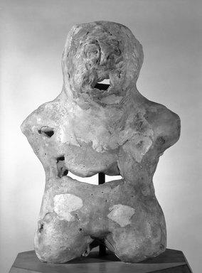 Varujan Boghosian (American, born 1926). Figure, 1950s. Polychromed plaster, 14 1/2 x 10 x 5 1/2 in. (36.8 x 25.4 x 14 cm). Brooklyn Museum, Gift of Virginia M. Zabriskie, 85.231.3. © Varujan Boghosian