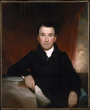 Samuel Finley Breese Morse (American, 1791-1872). Jonas Platt, 1828. Oil on canvas, 35 15/16 x 29 7/16 in. (91.3 x 74.8 cm). Brooklyn Museum, Dick S. Ramsay Fund, 85.23