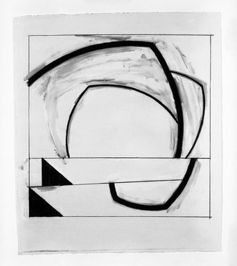 Stan Gregory (American, born 1948). Untitled, n.d. Acrylic and charcoal on paper, 19 1/8 x 22 1/8 in. (48.6 x 56.2 cm). Brooklyn Museum, Gift of Hal Landers , 85.244.3. © Stan Gregory