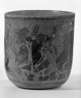Maya. Vase, 600-800. Ceramic, pigment, 5 13/16 x 5 3/8 in. (14.8 x 13.7 cm). Brooklyn Museum, Gift of Frederic Zeller, 85.262.3. Creative Commons-BY