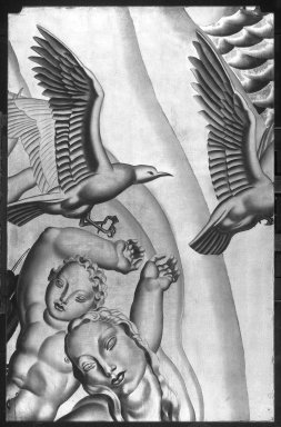 Brooklyn Museum: Panel from the Grand Salon of the Ocean Liner Normandie