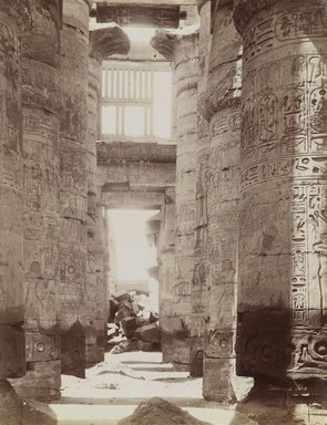 Antonio Beato (Italian and British, after 1832-1906). Hypostyle Hall in Temple of Karnak (View of the Hypostyle Hall), 19th Century. Albumen silver photograph, image/sheet: 7 3/4 x 10 1/4 in. (19.7 x 26 cm). Brooklyn Museum, Gift of Matthew Dontzin, 85.305.8