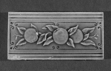 International Tile Company. Tile, 1882-1888. Earthenware, 1/2 x 6 x 3 in. (1.3 x 15.2 x 7.6 cm). Brooklyn Museum, Gift of Florence I. Barnes, 85.6.11. Creative Commons-BY