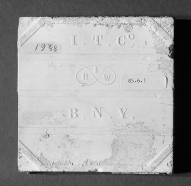 International Tile Company. Tile, 1882-1888. Earthenware, 1/2 x 4 1/2 x 4 1/2 in. (1.3 x 11.4 x 11.4 cm). Brooklyn Museum, Gift of Florence I. Barnes, 85.6.1. Creative Commons-BY