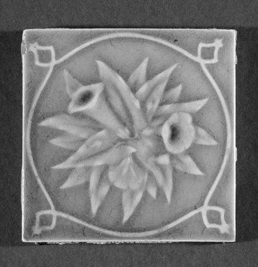International Tile Company. Tile, 1882-1888. Earthenware, 1/2 x 4 1/2 x 4 1/2 in. (1.3 x 11.4 x 11.4 cm). Brooklyn Museum, Gift of Florence I. Barnes, 85.6.3. Creative Commons-BY