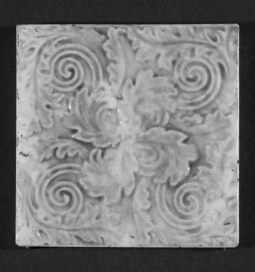 International Tile Company. Tile, 1882-1888. Earthenware, 1/2 x 4 1/2 x 4 1/2 in. (1.3 x 11.4 x 11.4 cm). Brooklyn Museum, Gift of Florence I. Barnes, 85.6.5. Creative Commons-BY